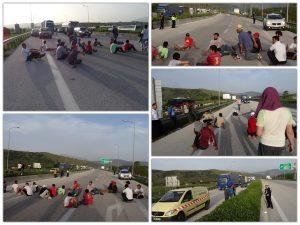 Κομμένη στα δύο η Εγνατία λόγω… διαμαρτυρίας προσφύγων