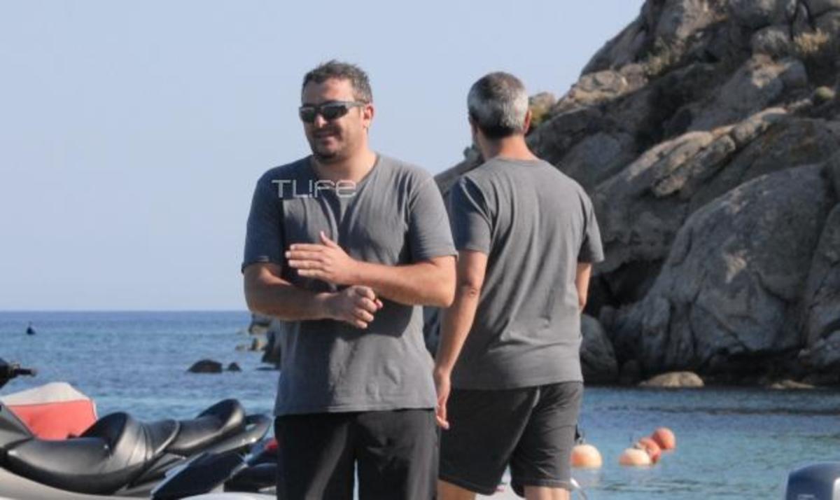 Α. Ρέμος: Οι πρώτες βουτιές στη Μύκονο! Δες φωτογραφίες   Newsit.gr