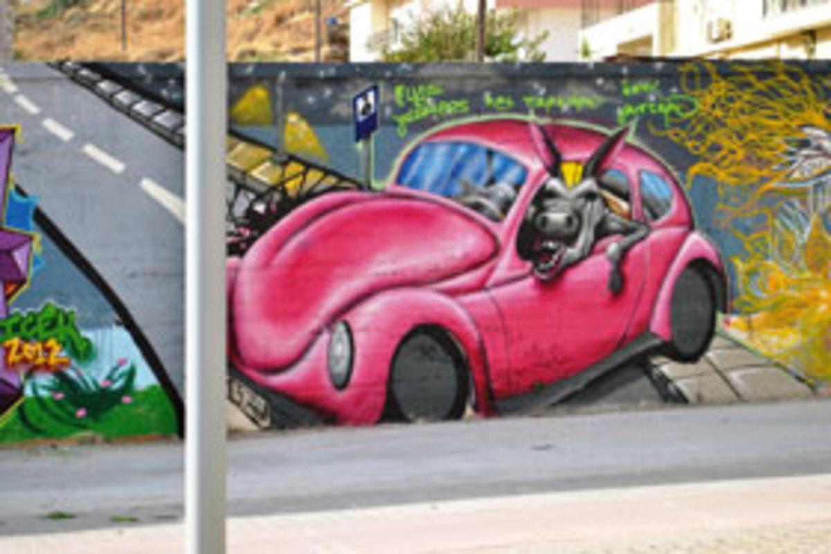 Γέμισαν τους τοίχους με… περιβαλλοντικά μηνύματα
