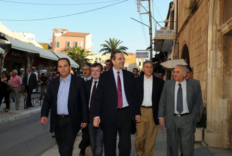Οπαδοί του ΟΦΗ «εμποδίζουν» την ομιλία του Σαμαρά στην Κρήτη | Newsit.gr