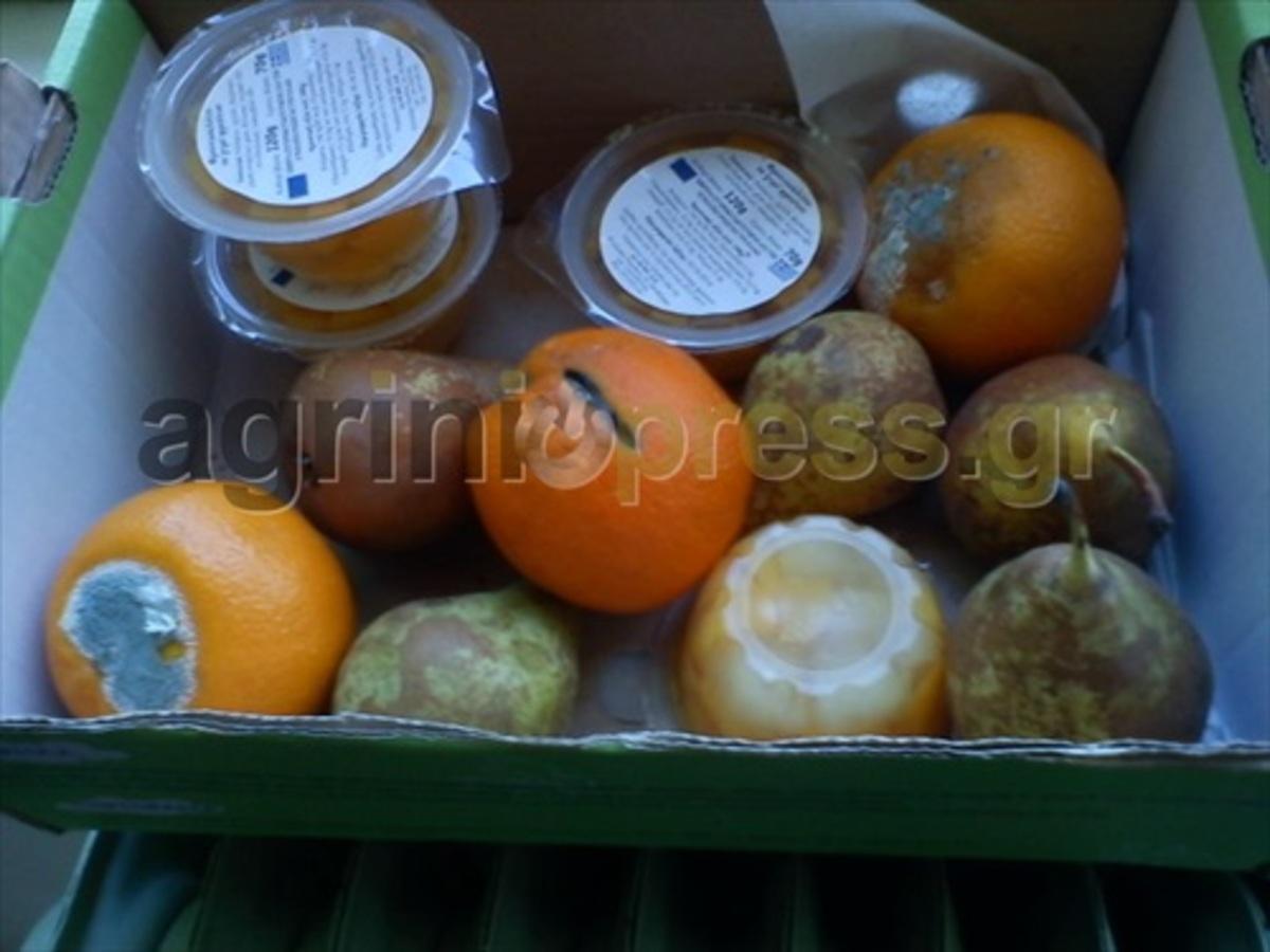 Αγρίνιο: Δωρεάν αλλά σάπια τα φρούτα που μοίρασαν σε σχολείο – Δείτε φωτό! | Newsit.gr