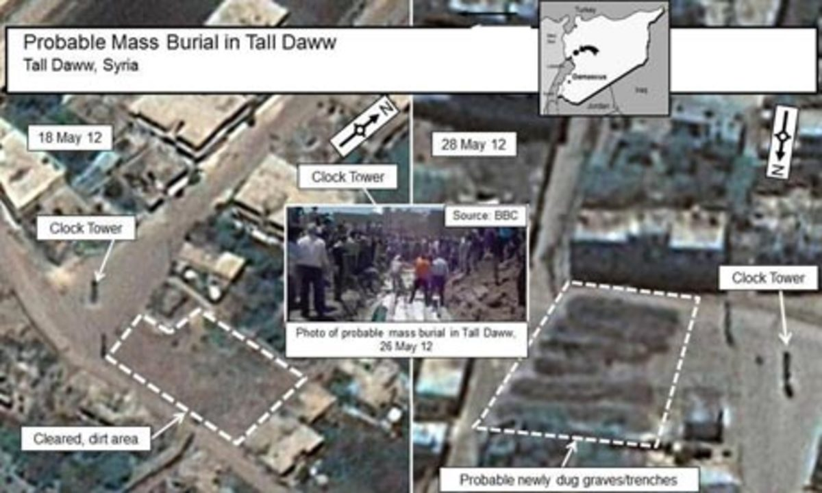 Συρία: Δορυφορικές φωτογραφίες δείχνουν μαζικούς τάφους στη Χούλα   Newsit.gr