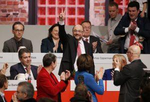 Και επίσημα πρόεδρος του Σοσιαλδημοκρατικού Κόμματος με 100% ο Σουλτς