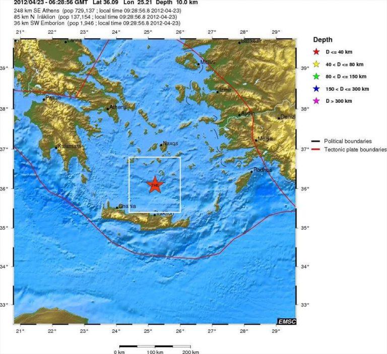 Αιγαίο: Σεισμός 4,1 Ρίχτερ ανάμεσα στην Κρήτη και τη Σαντορίνη! | Newsit.gr