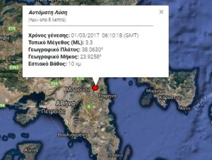 Σεισμός στην Αθήνα – Τι δείχνουν οι σεισμογράφοι [pic]