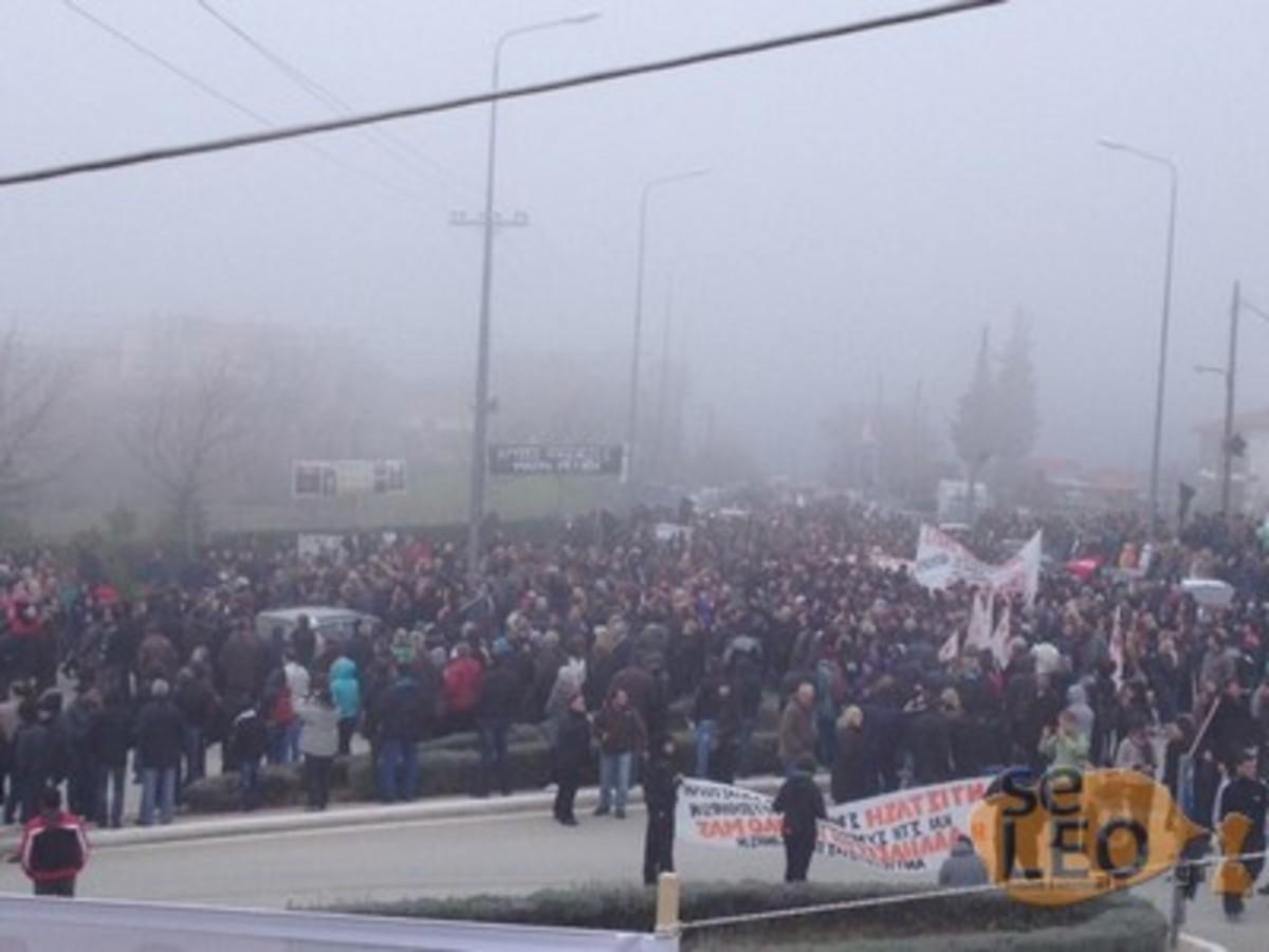 Συγκέντρωση και πορεία διαμαρτυρίας για τις Σκουριές (ΦΩΤΟ και VIDEO)   Newsit.gr