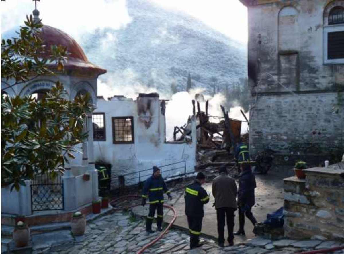 Σέρρες: Τα 2 εκατομμύρια ευρώ αγγίζουν οι ζημιές από την πυρκαγιά στο μοναστήρι | Newsit.gr
