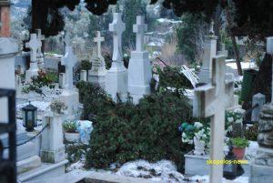 Καιρός: Μεγάλες ζημιές στο νεκροταφείο της Σκοπέλου [pics]
