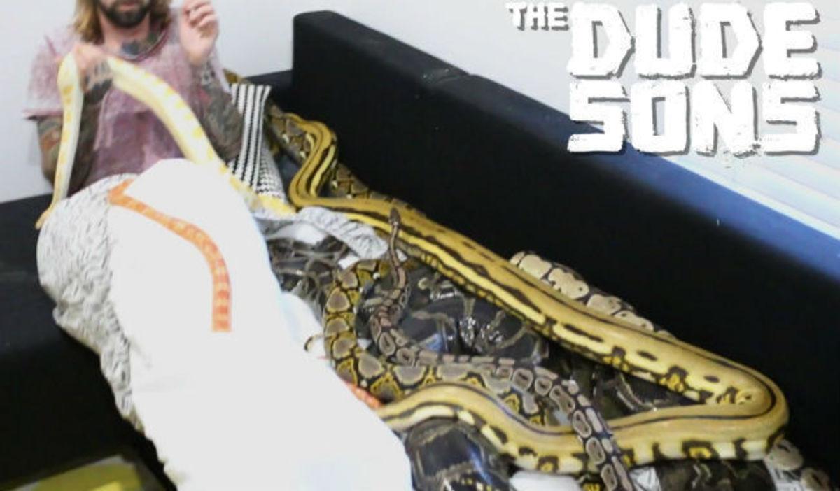 Άφησαν τρία τεράστια φίδια πάνω στο κρεβάτι του – Δείτε την αντίδραση του, όταν ξύπνησε! (ΒΙΝΤΕΟ) | Newsit.gr