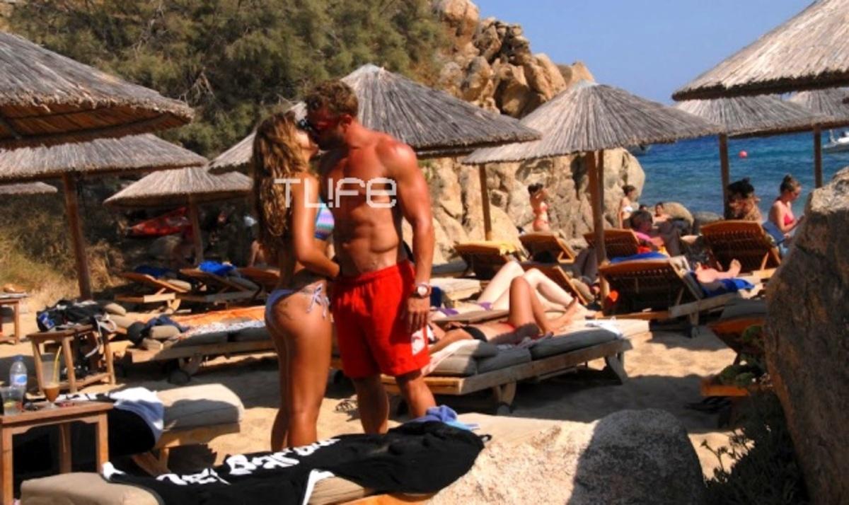 Κ. Σόμμερ: Καυτά φιλιά με τη sexy σύντροφό του στη Μύκονο! | Newsit.gr