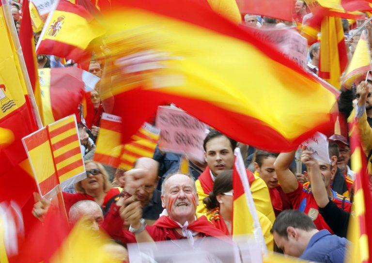Βαρκελώνη: Διαδήλωση κατά της καταλανικής ανεξαρτησίας | Newsit.gr