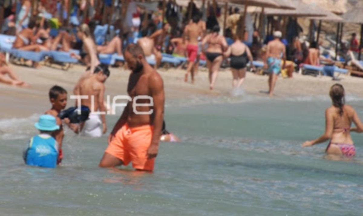 Β. Σπανούλης: Για μπάνιο με τους γιους του! | Newsit.gr