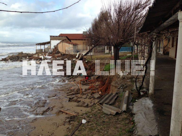 Ηλεία: Η θάλασσα παρέσυρε σπίτια στη Σπιάντζα – ΦΩΤΟ και VIDEO | Newsit.gr