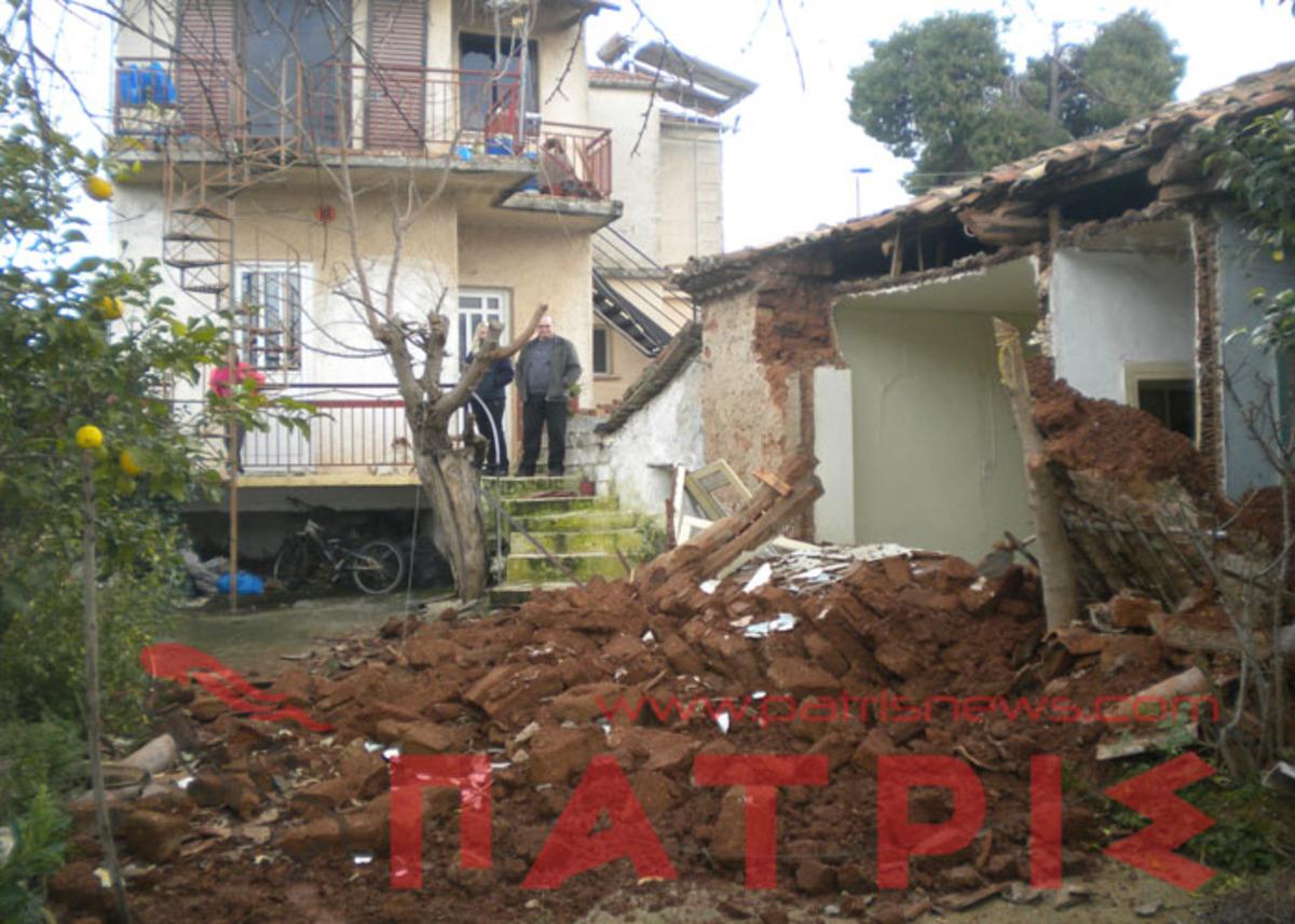 Ηλεία: «Φύτρωσαν» συντρίμμια στην αυλή τους – Κατέρρευσε το γειτονικό σπίτι από την κακοκαιρία!   Newsit.gr