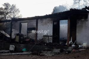 Φωτιά στους Αγίους Θεοδώρους: Θρίλερ με το απανθρακωμένο πτώμα [pics, vids]