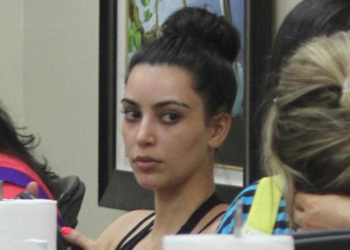 Η Kim Kardashian πήγε για mani- pedi εντελώς αμακιγιάριστη! Δες photo!   Newsit.gr