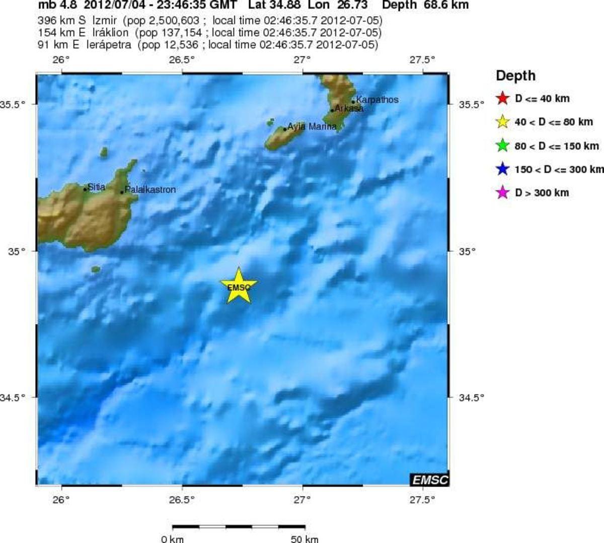 Κρήτη: Ταρακουνήθηκαν από σεισμούς 4,8 βαθμών της κλίμακας Ρίχτερ! | Newsit.gr