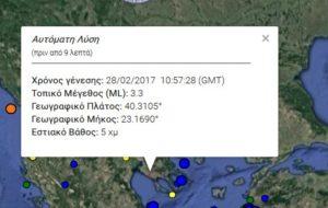 Σεισμός 3,3 Ρίχτερ στον Πολύγυρο Χαλκιδικής – Στα 5 χιλιόμετρα το εστιακό του βάθος!