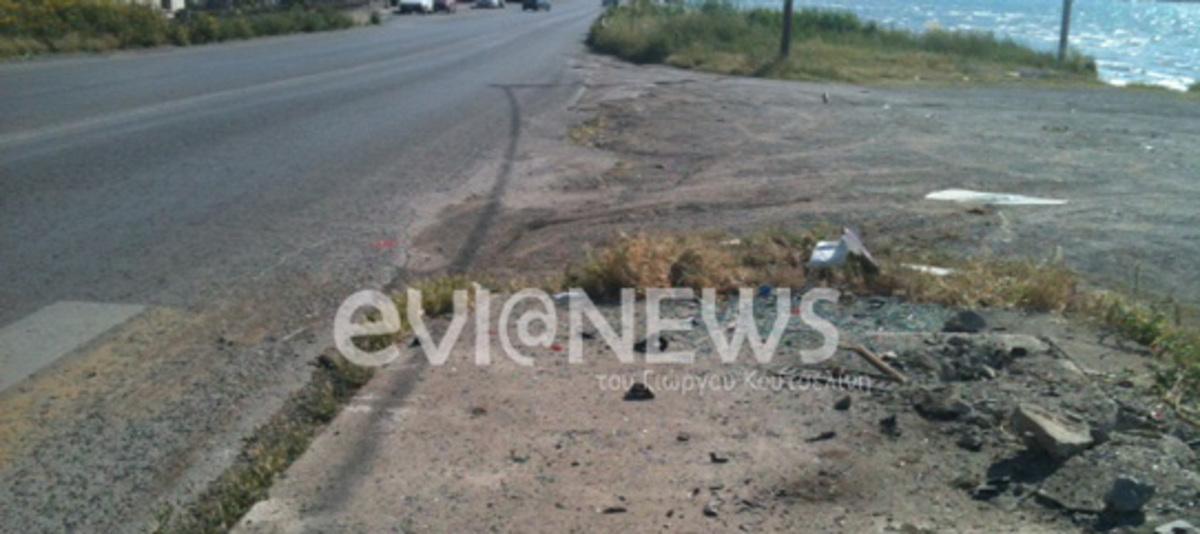 Εύβοια: Η »τρελή» πορεία αυτοκινήτου, σταμάτησε σε στάση λεωφορείου! | Newsit.gr