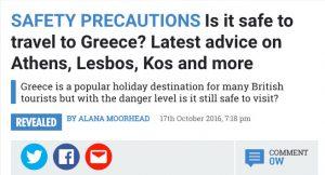 Ύποπτο δημοσίευμα της βρετανικής SUN! – Αναρωτιέται πόσο ασφαλής χώρα είναι η Ελλάδα