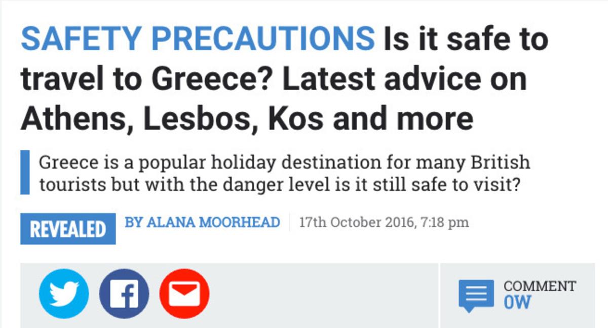 Ύποπτο δημοσίευμα της βρετανικής SUN! – Αναρωτιέται πόσο ασφαλής χώρα είναι η Ελλάδα | Newsit.gr