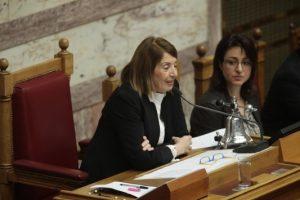 Χριστοδουλοπούλου: Ανοίκεια και επιθετική η άρνηση της Γ. Τσατάνη να παρουσιαστεί στην Επιτροπή Θεσμών και να καταθέσει την δικογραφία Βγενόπουλου