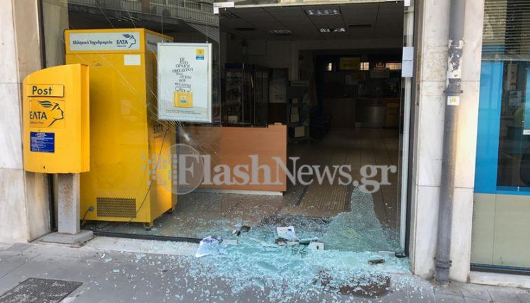 Κρήτη: Έσπασαν τα ΕΛΤΑ οι αντιεξουσιαστές [pics]