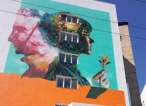 Θεσσαλονίκη: Μια τεράστια τοιχογραφία με μήνυμα για τη δωρεά οργάνων στην πρόσοψη του ΑΧΕΠΑ [pic]