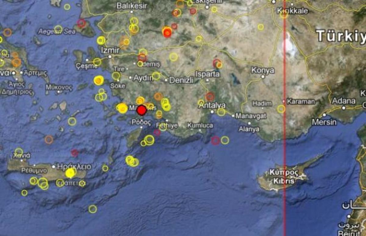 Σεισμός 4,7 ρίχτερ κοντά στη Ρόδο   Newsit.gr