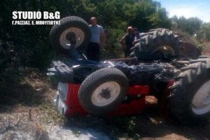 Νεκρός αγρότης στην Αργολίδα από ανατροπή τρακτέρ