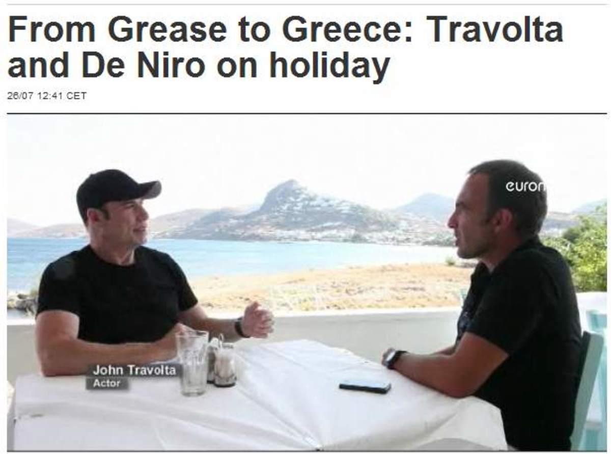 Τζον Τραβόλτα στο EURONEWS : «Όπου και αν πάω στην Ελλάδα, αισθάνομαι ασφαλής»! Δείτε το βίντεο του Νίκου Αλιάγα | Newsit.gr