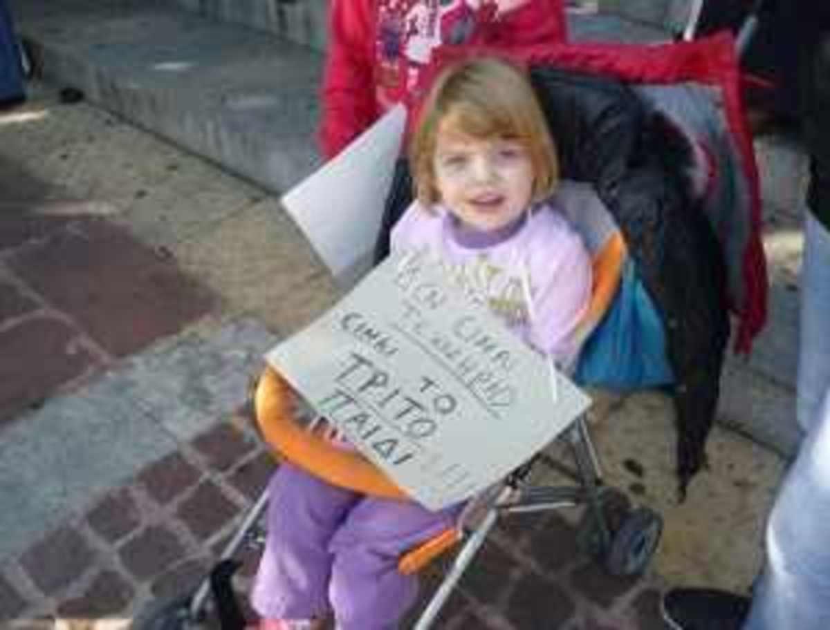 «Γλυκιά» διαμαρτυρία από τους τρίτεκνους της Ξάνθης | Newsit.gr