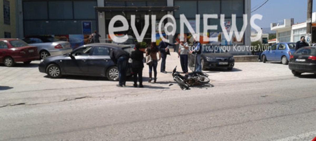 Εύβοια: Οδηγός μηχανής βγήκε αλώβητος από σφοδρή μετωπική με αυτοκίνητο! | Newsit.gr