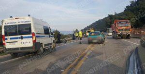 Τρεις τραυματίες σε τροχαίο στην Πατρών – Κορίνθου [pics]