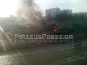 Στις φλόγες φορτηγό στην Αττική Οδό! [pics]
