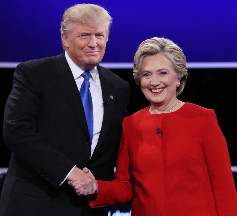 Κλάμα! Η Χίλαρι προσπαθεί να αποφύγει την… αγκαλιά του Τραμπ! [vid]