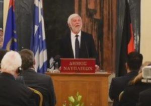 Ναύπλιο: Αντιδράσεις για την ομιλία Τατούλη και τους Γερμανούς φιλέλληνες – Η παράλειψη που σχολιάστηκε [vid]