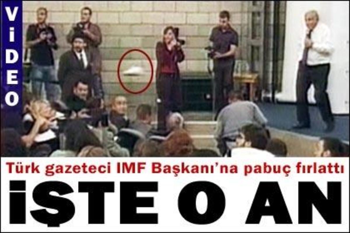 Ιπτάμενο παπούτσι και κατά του Προέδρου του ΔΝΤ! | Newsit.gr