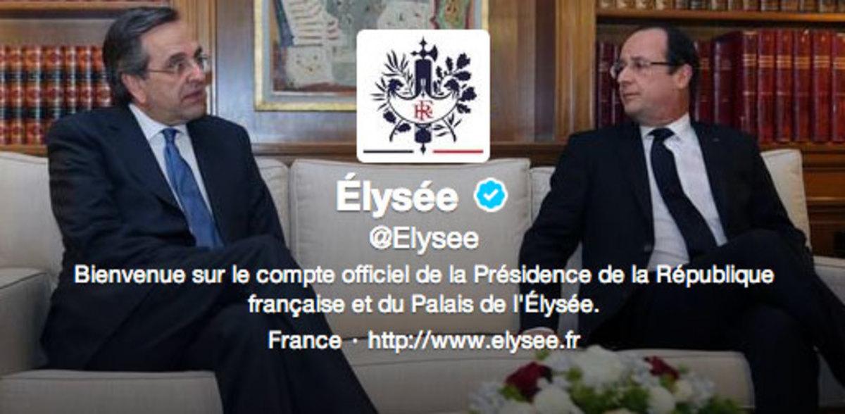 Ελληνικό χρώμα στο twitter και το facebook του Γάλλου Προέδρου | Newsit.gr