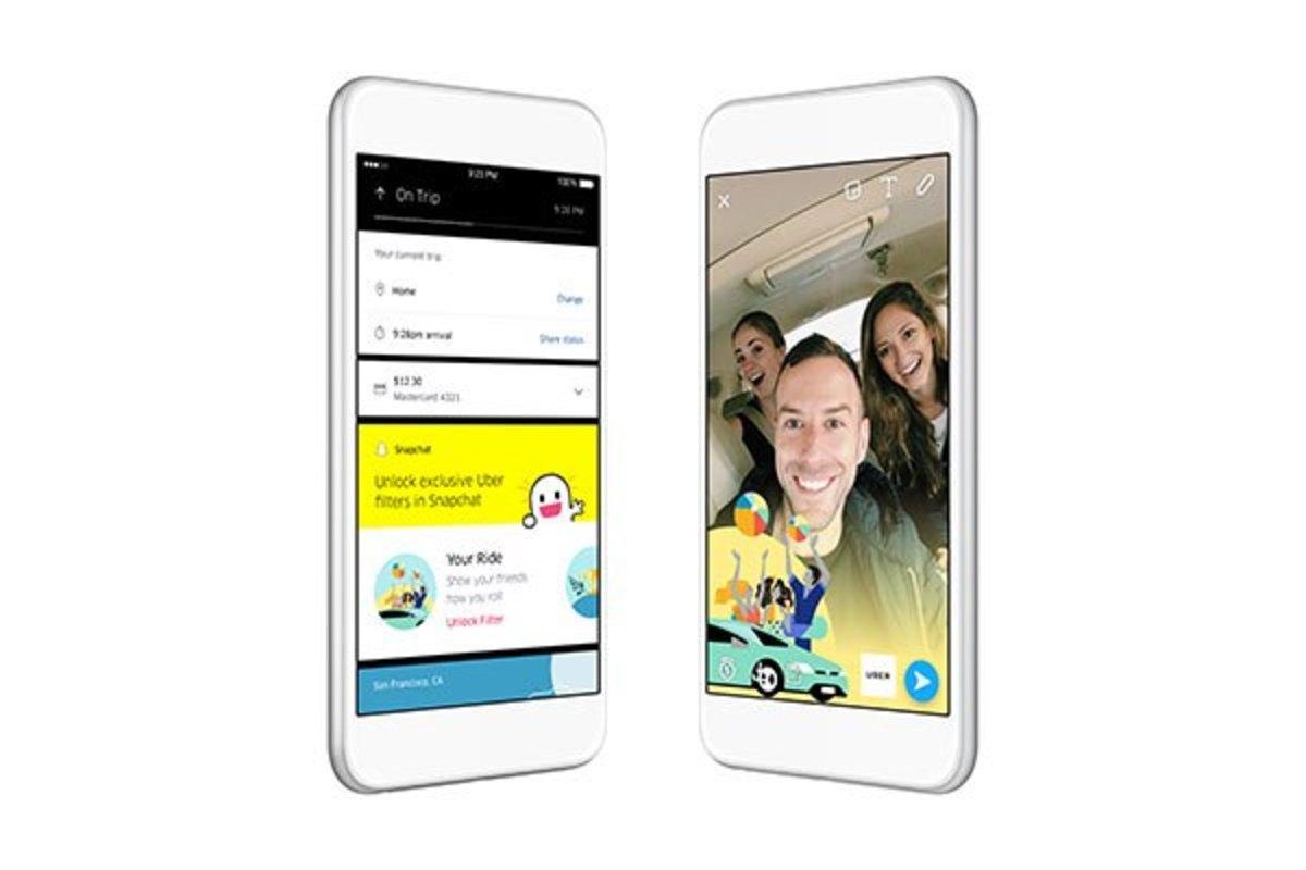 Ενσωμάτωση των φίλτρων του Snapchat στην εφαρμογή του Uber! | Newsit.gr