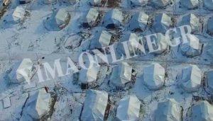 """Βίντεο ντοκουμέντο: """"Πνίγονται"""" στο χιόνι και ξαπαγιάζουν οι πρόσφυγες στο Ελληνικό"""