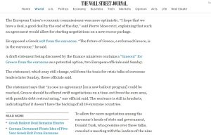 WSJ: Στο τραπέζι του Eurogroup το πλάνο Grexit του Σόιμπλε!