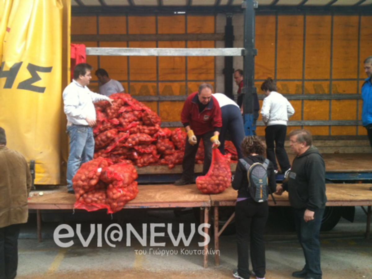 Φθηνές πατάτες και στη Χαλκίδα – Φωτό και video | Newsit.gr