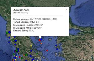 Σεισμός στη Χαλκιδική τα ξημερώματα
