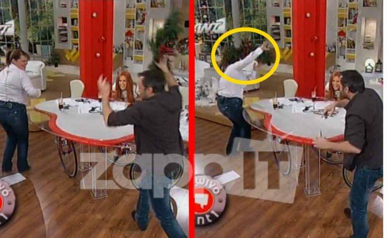 Ο Φερεντίνος πετάει τη χριστουγεννιάτικη διακόσμηση στο κεφάλι της Ζαρίφη! | Newsit.gr