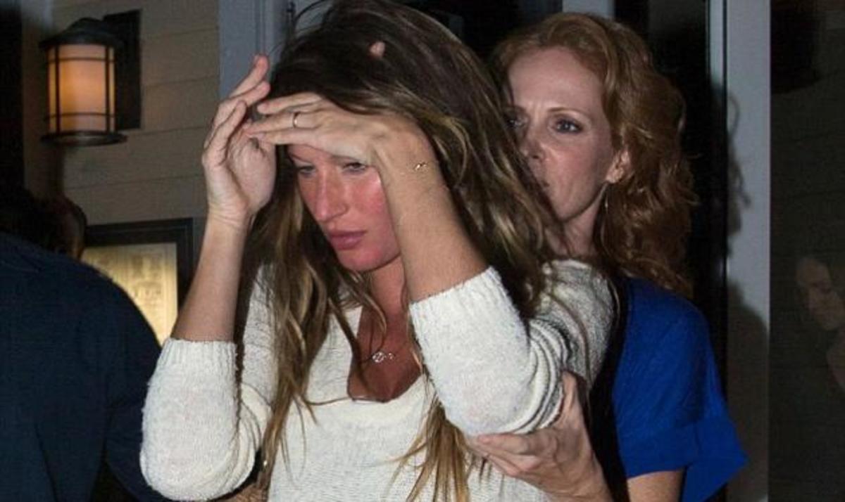 Η εγκυμονούσα Gisele φεύγει από εστιατόριο υποβασταζόμενη από φίλη της | Newsit.gr