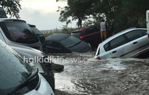 Καιρός: Νέες εικόνες χάους στη Σιθωνία της Χαλκιδικής – Πλημμύρες και καταστροφές [pics]