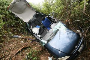 Εύβοια: Έπεσαν σε γκρεμό και σώθηκαν από δέντρο – Φοβερό τροχαίο κοντά στην Αιδηψό!