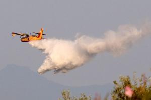 Σουφλί: Σε ύφεση η μεγάλη φωτιά  στη Λευκίμη – Στάχτη 175 στρέμματα δάσους!