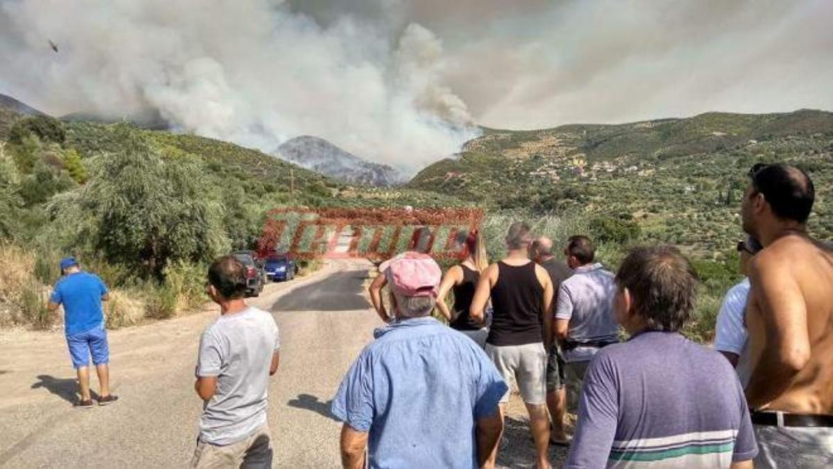 Ηλεία: Μαίνεται η φωτιά στα Ροδινά Ζαχάρως – Ακυρώθηκε η εκκένωση του οικισμού [pics, vids]   Newsit.gr